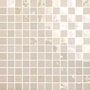 The Wall Mosaico Highlights Bianco Avorio 2,2x2,2